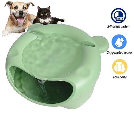 DAN Fuente De Agua para Gatos - Bebedero Automático Perro Y Gato - Dispensador con Bomba
