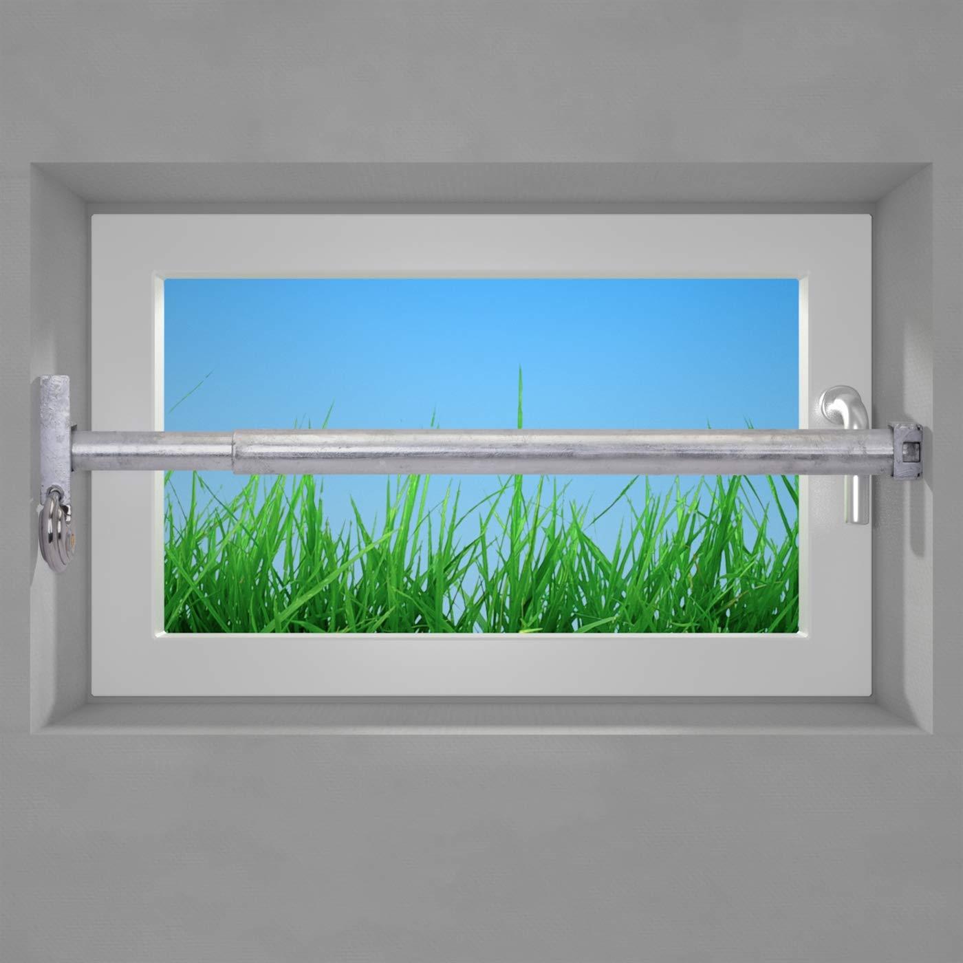 VOSS Fenstersicherung Sicherungsstange Einbruchschutz verzinkt 1Fach 1000-1700mm