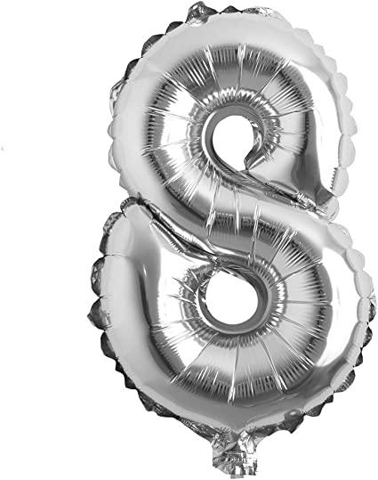"""16/"""" SILVER Number 5 Mylar Foil Balloon 1 pc Party BackDrop Decorations Supply"""