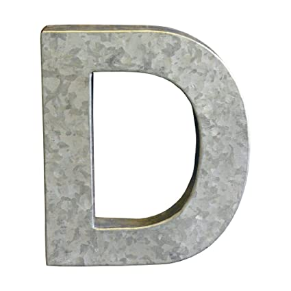Amazon.com: Modelli Creations Alphabet Letter D Wall Decor, Zinc ...