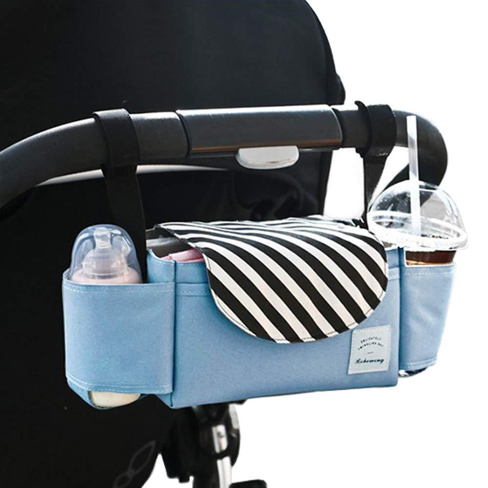 Large Storage Space Baby Travel Bag,Fit All Baby Stroller Models and Pet Stroller Stroller Accessories Organizer Bag,Baby Stroller Hanging Bag Baby Stroller Organizer with Cup Holders and Diaper Bag