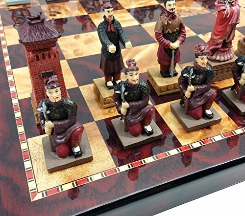 HPL Oriental Terracotta Army Warriors Chess Set w/ 18