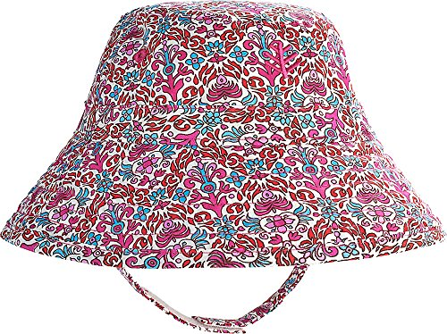 Coolibar UPF 50+ Baby Cotton Cap - Sun Protective (6-12 Months- Magenta Tapestry)