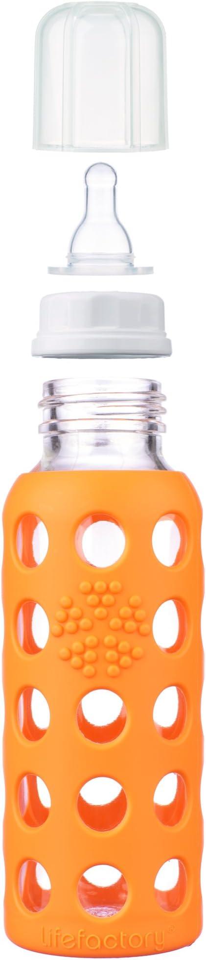 Lifefactory Babyflasche orange