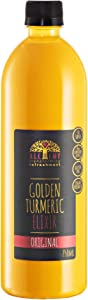 Alchemy Golden Milk Turmeric Elixir Latte Concentrate with Curcumin, Ginger and Raw Sugar| Hints of Cinnamon and Creamy Vanilla | Coffee Substitute for Weight Loss | 750 ml | Vegan Turmeric Drink