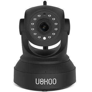 Inalámbrico cámara, uokoo 720P Cámara de cúpula de IP Internet cámara de vigilancia micrófono incorporado
