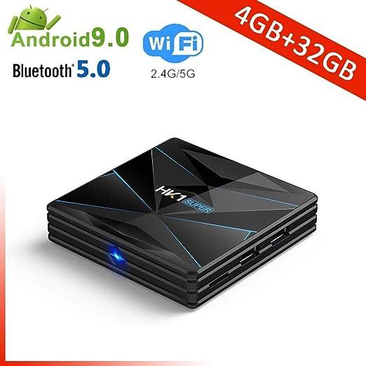 YPSMCYL RK3318 HK1MINI + Android 9.0 Quad-Core Smart TV Box 4G 64G 128G 4K TV Box 2.4G Y 5GHz WiFi BT4.0 Google Set-Top Box Player,4GB+32GB: Amazon.es: Hogar