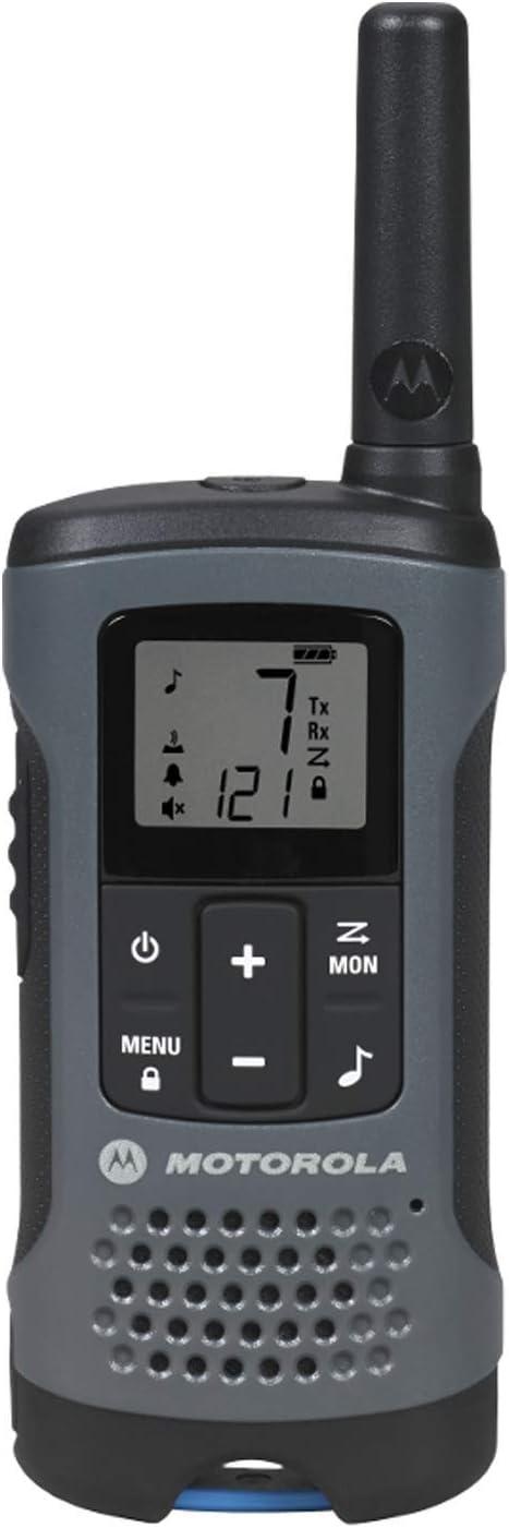 White Motorola T260TP Talkabout Radio 3 Pack Bundle with Motorola 1518 Surveillance Headset with PTT Mic Black