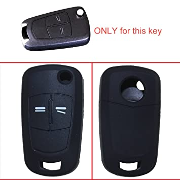 tuqiang® Llave Carcasa for Opel Astra 1pc negro 2 botones plegables llaves silicona Cover Llave de Coche Móvil