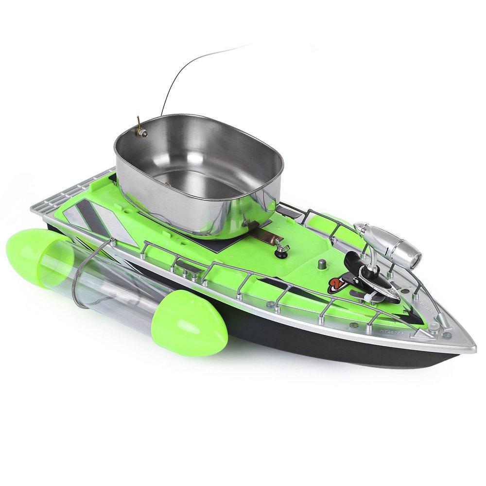 Greendream Mini RC Wireless Fishing Lure Bait Boat Remote Control for Finding Fish - GREEN