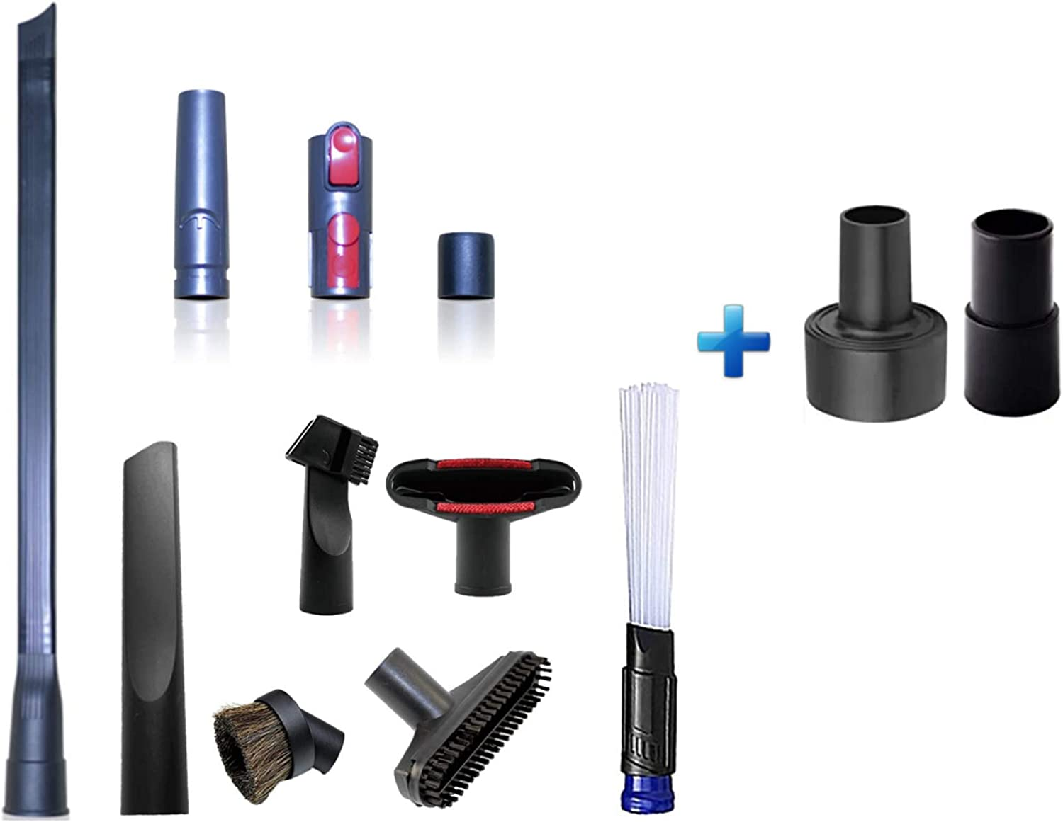 Household Cleaning Kit Attachments Vacuum Cleaner Accessories Universal Vacuum Hose Adapters Flexible Crevice Tool for Dryer Lint Vent Trap Cleaner