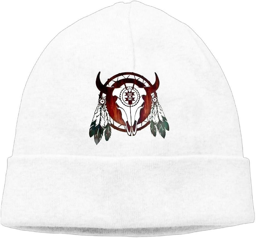 Beanies Hat Native American Buffalo Skull Arrowhead Indian Knit Caps Men