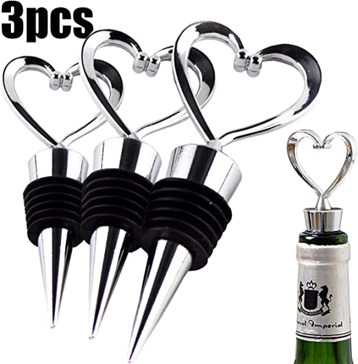 W6121 Rabbit 2 Pack Assorted Colors, Set of 4 Wine and Beverage Bottle Stoppers with Grip Top