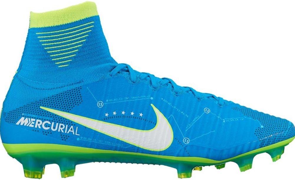 Nike Men's Mercurial Superfly V NJR FG Soccer Cleat (Sz. 8.5) Blue Orbit