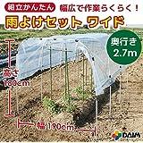 組立かんたん雨よけセット ワイド 1.9×2.7m