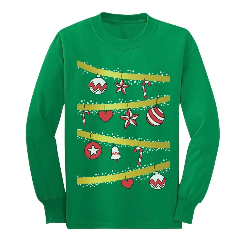 Festive Christmas Tree - Light It Up It's Xmas Cute Long sleeve kids T-Shirt GM0Z0hgCm