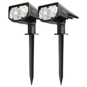 LITOM 12 LED Solar Landscape Spotlights