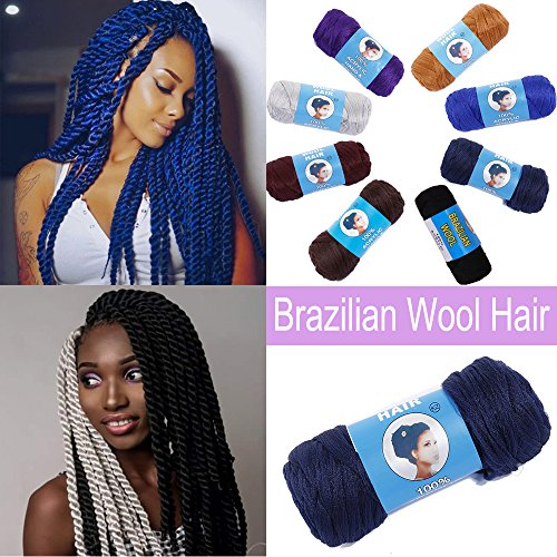Acrylic Brazilian Wool Hair for Braids African
