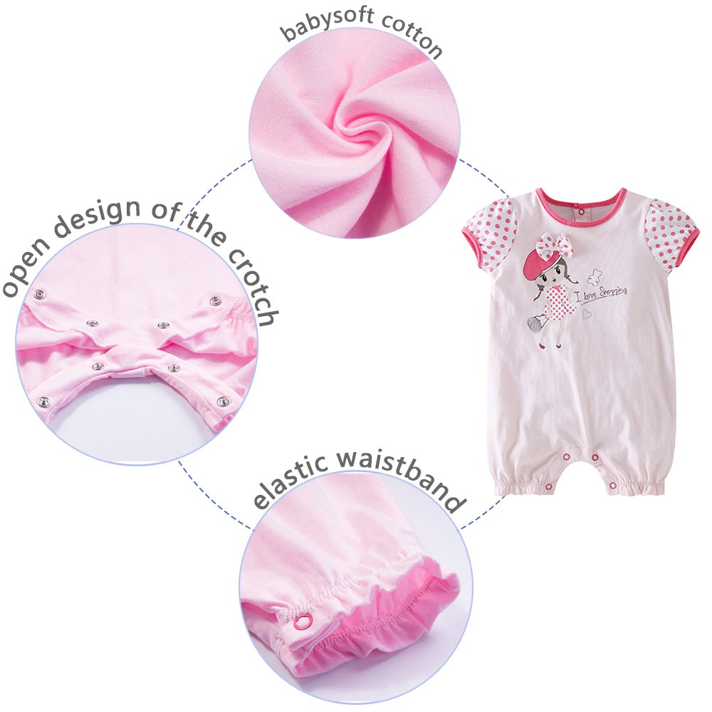 d7e80327beb2 Baby Girl Romper Infant Outfits Cute Red Clothes Toddler Jumpsuit ...
