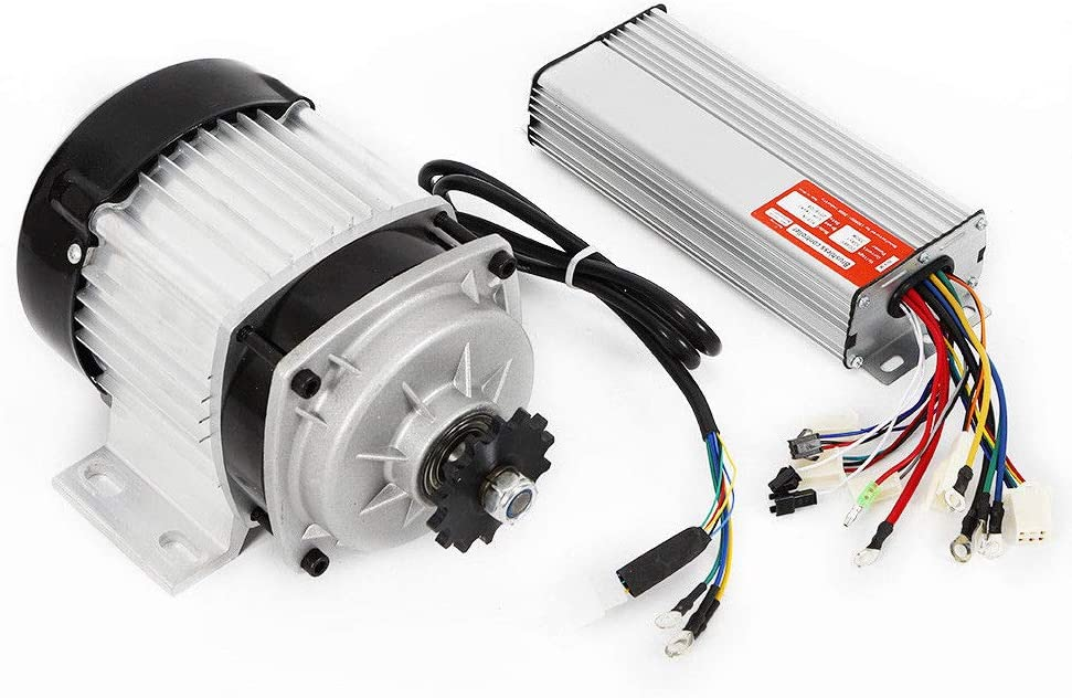 SHIOUCY Motor eléctrico sin escobillas Shimano 48 V DC 750 W con Controlador para Bicicletas eléctricas de Tres Ruedas, Adecuado para triciclos, Bicicletas eléctricas, patinetes eléctricos
