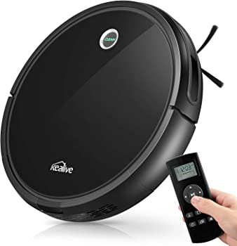 Kealive 1400PA Super Suction Self-Charging Robotic Vacuum Cleaner (Black)
