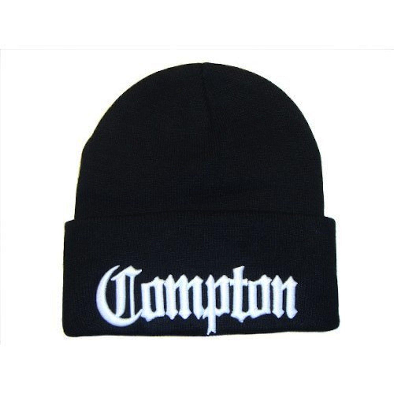 3d刺繍Compton Eazy E Watch /ストッキングキャップ帽子(サイズ1、ブラック/ホワイト)   B00FJI5Q2K