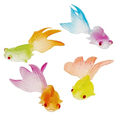 US Toy Glow in The Dark Goldfish Party Accessory (12 Count): Toys & Games