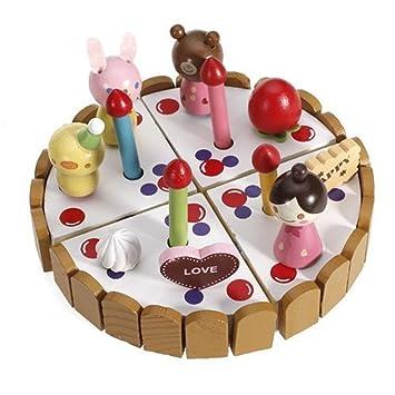 Juguete de madera para tartas de cumpleaños para niños ZCSMg ...