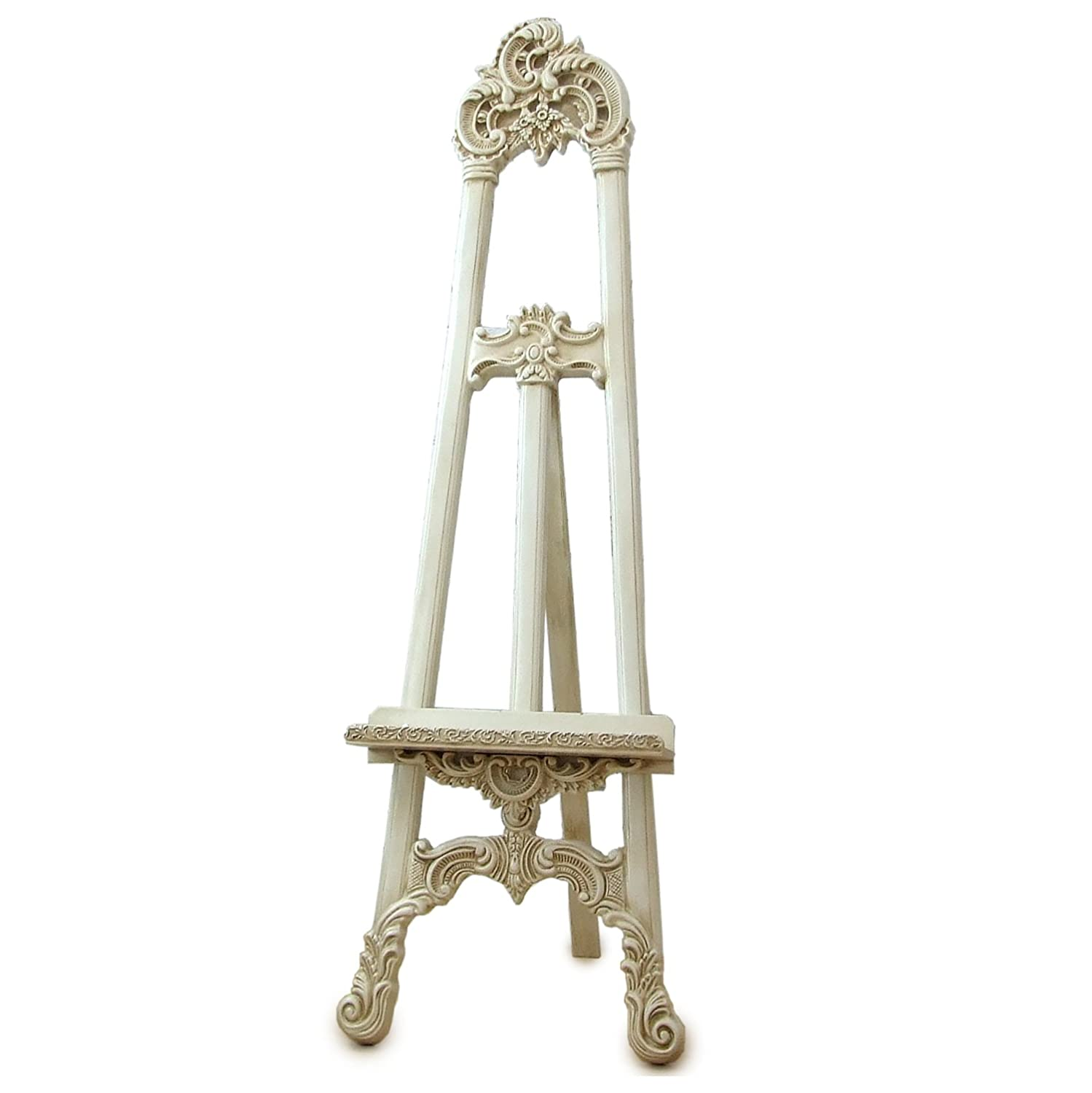 Barcelona Trading Antique Cream Shabby chic Easel ART DISPLAY PICTURE WEDDING MENU STAND Large