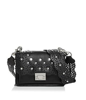 589d324016 Rebecca Minkoff Floral Cut Out Christy Shoulder Bag black: Amazon.co.uk:  Clothing
