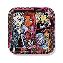 """American Greetings Monster High 9"""" Square Plates (8-Pack), Party Supplies"""