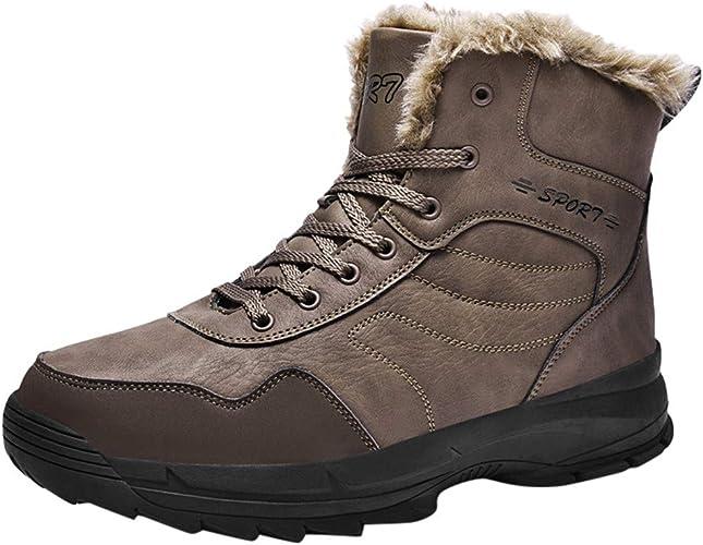 KUDICO Chaussures Bottes Hiver De Neige Homme Boots Fausse