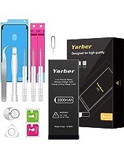 Batterie pour iPhone 7 2200mAh, Yarber Batterie Interne Haute Capacité avec 12% Plus de Pouvoir Remplacer pour Batteries iPhone 7 avec Kit de Outils - 2 Ans de Garantie