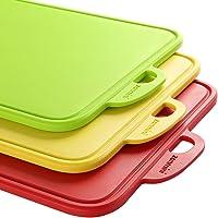 zanmini Set Taglieri Flessibili 3 Pz. in plastica, Tagliere plastica Alimenti Lavabili in Lavastoviglie
