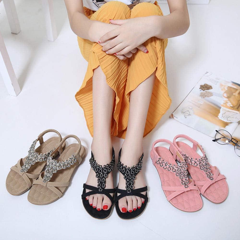 Dames Sandalen Zomer Vrouwen Sandalen Bohemia Zachte Bodem Causal flip Flops Platte Schoenen Vrouw Plus Size Mode Sandalen Dames Schoenen Zwart