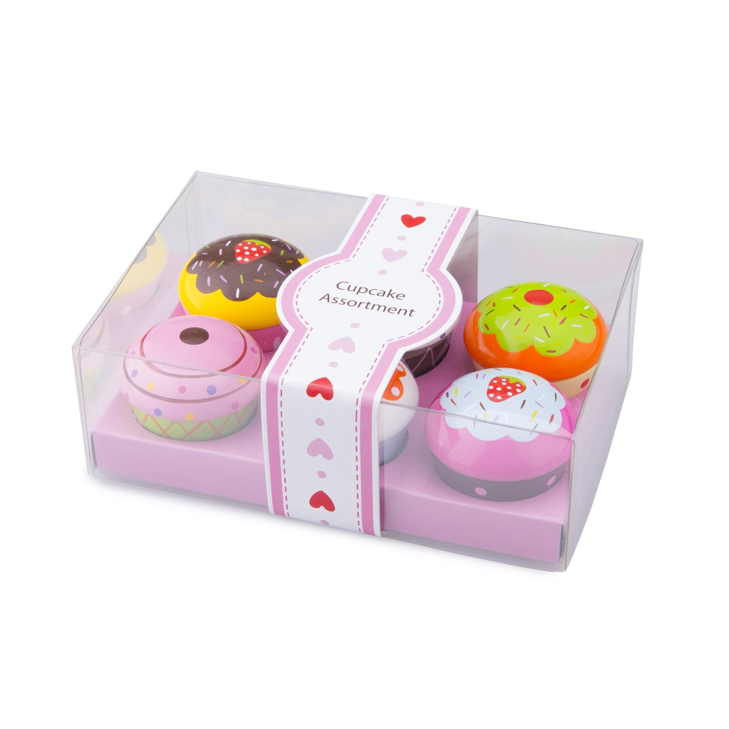 New Classic Toys - Cupcake Assortment in Giftbox - 6 Pcs. Childrens Pastry Playset