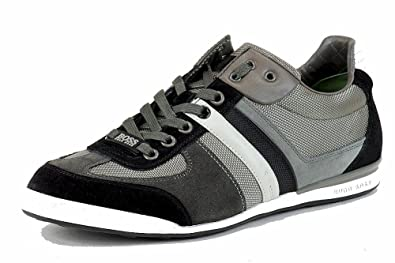 Hugo Boss Men's Fashion Sneakers Akeen Suede Shoes 50247604 (12, Medium  Grey)