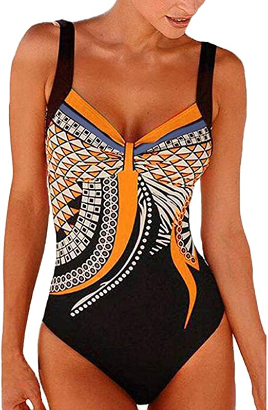 Leslady Maillot de Bain 1 Pi/èce Femme Bikini Amincissant Slim Transparent Beachwear Plage Body Guide