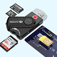 Eletrand Inteligente USB 2.0 Lector de Tarjetas   Lector de DNI Electrónico y CAC Inteligente Lector de Tarjetas…