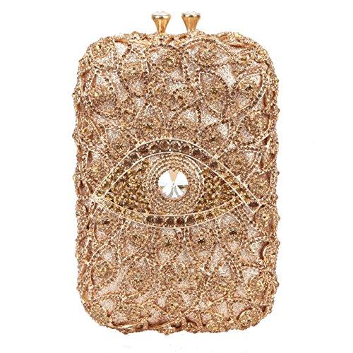 - Fawziya Eye Shape Purses And Handbags Wholesale Bags For Girls-Smoky yellow