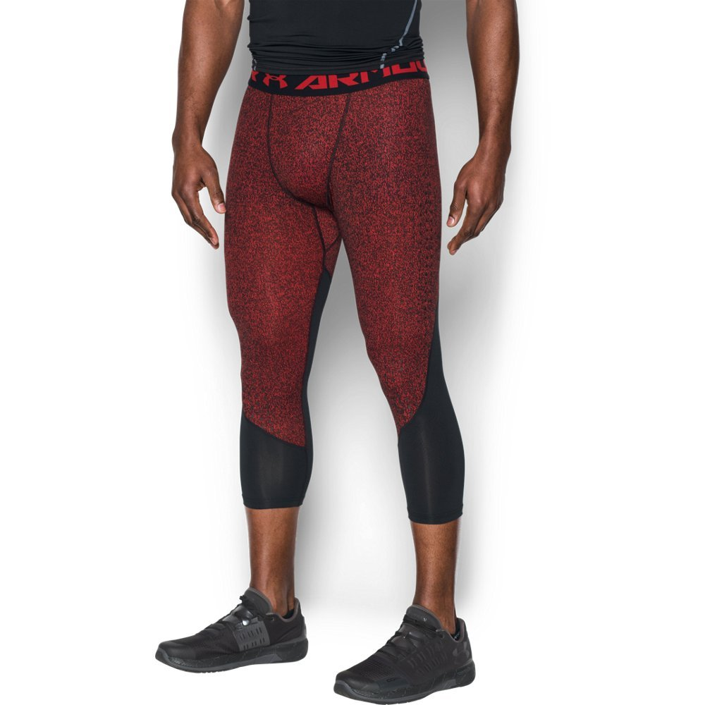 Under Armour Men's HeatGear CoolSwitch Armour 2C Compression ¾ Leggings, Red (601)/Graphite, Small