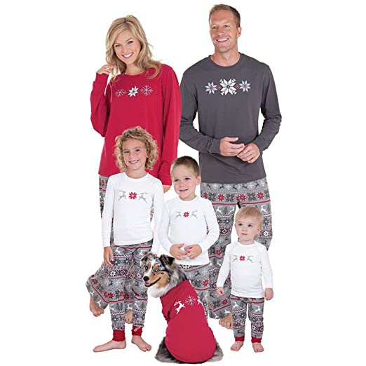 BiggerStore Family Matching Christmas Pajamas Set Kids Adult PJS Xmas Sleepwear Nightwear (Kids Only,