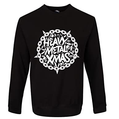 Realslicktees Heavy Metal Christmas Mens Sweater Amazoncouk Clothing