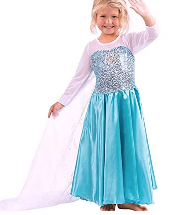6245a3fdeb0783 Freefly Frozen Girls Princess Costume Cosplay Fancy Dress Party Outfit Kids  2-3 Years