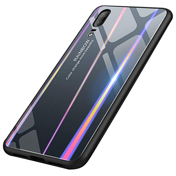 Amazon.com: UNIYA Huawei P20 Funda, Laser Aurora Color ...