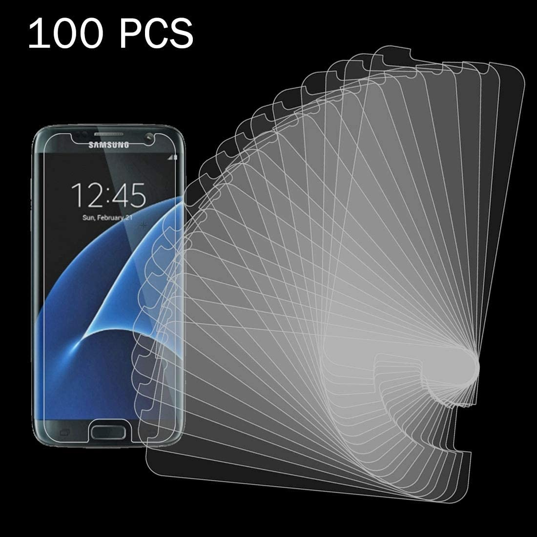 CHENNAN 100 PCS for Galaxy S7 G930 0.26mm 9H Surface Hardness 2.5D Explosion-Proof Tempered Glass Non-Full Screen Film Screen Tempered Glass Film