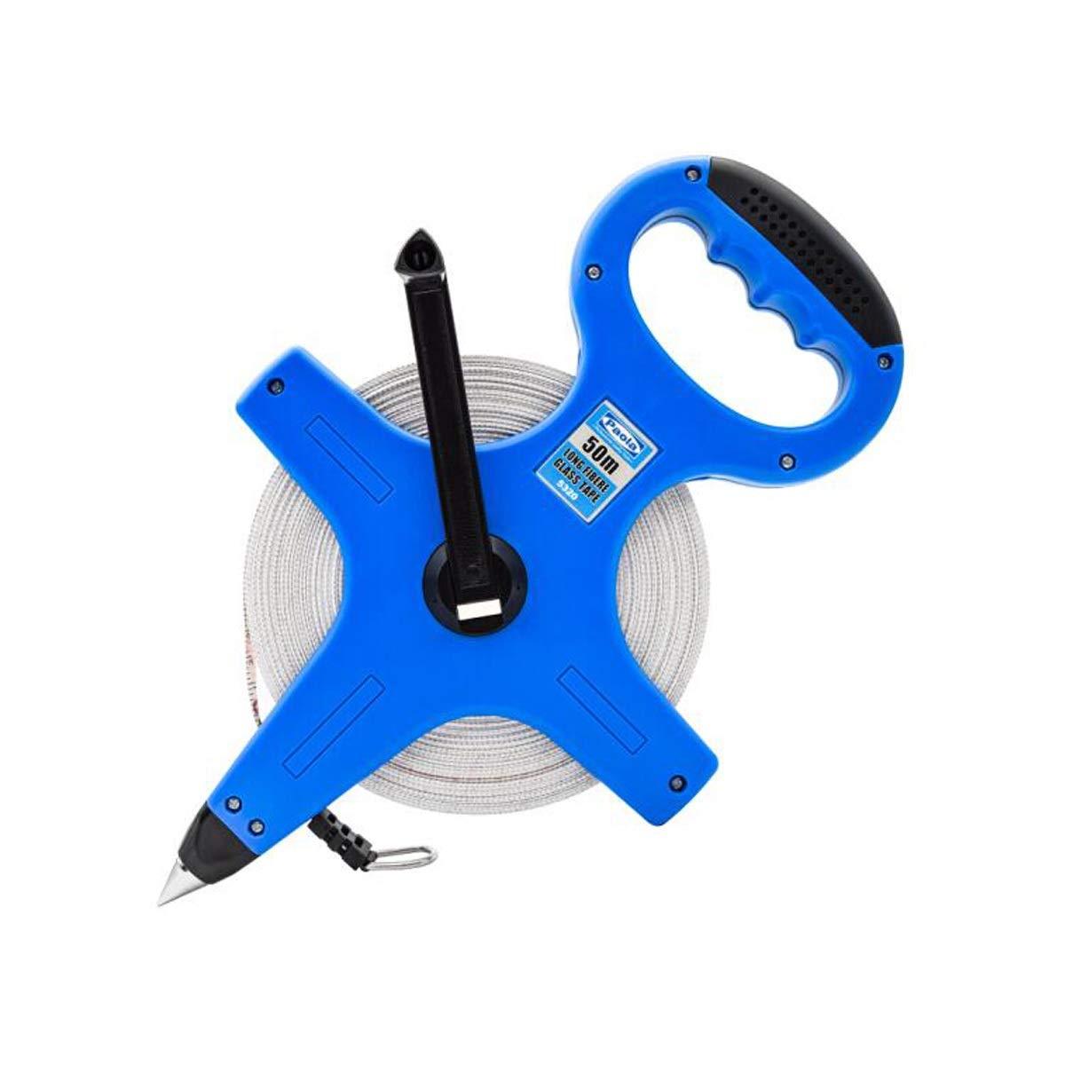 SHENGSHIHUIZHONG Ruler, 50m Portable Tape Measure Tape Measure Soft Ruler Ruler Playground Ruler Civil Engineering Measurement Shelf Ruler (Color : Blue, Size : 50m) by SHENGSHIHUIZHONG