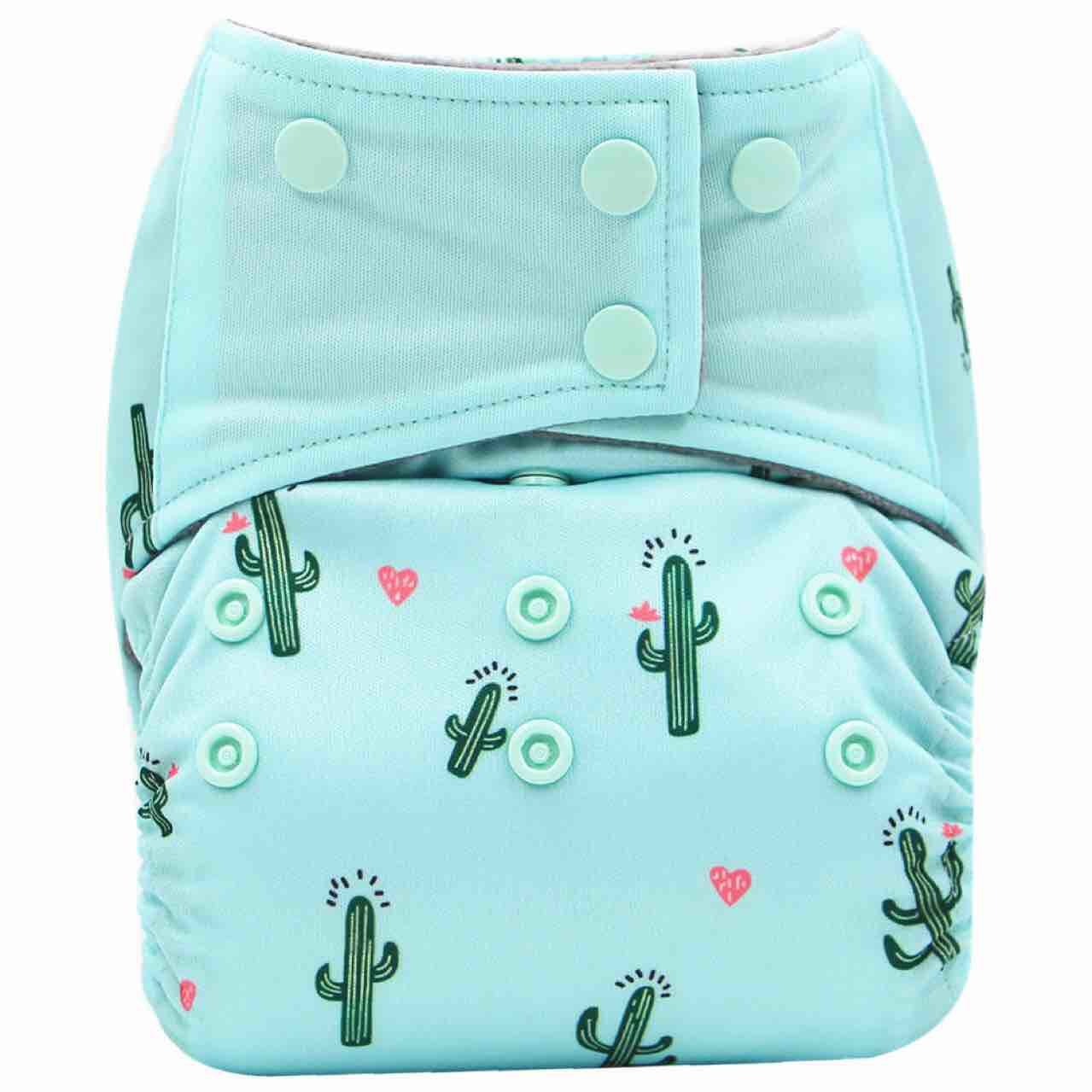 AIO Reusable Washable Cloth Diaper Nappy Charcoal Bamboo Insert Overnight (A21) CN