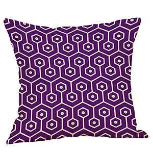 Amazon.com: Funda de almohada Dage mostaza púrpura ...