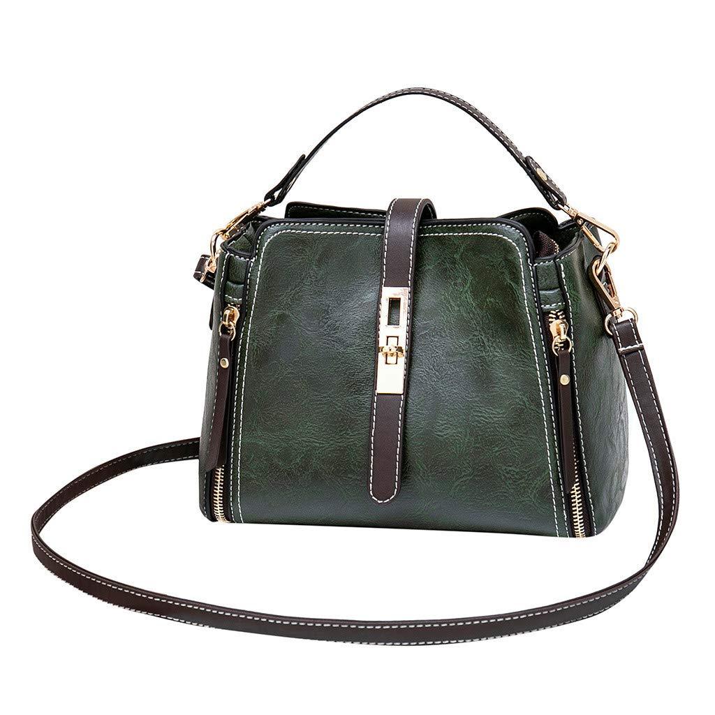 Shmei Women's Fashion Sen Department Joker Bucket Single Shoulder Messenger Bags for Shopping (S, Green)